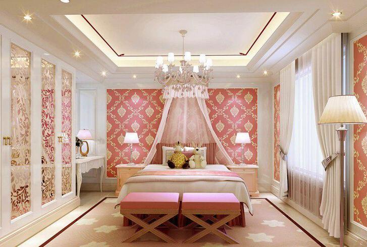 粉色欧式豪华公主房