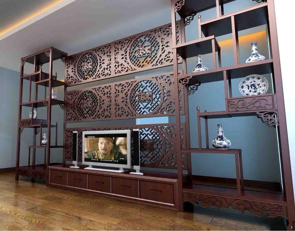 卧室客厅餐厅博古架隔断效果图高清图片