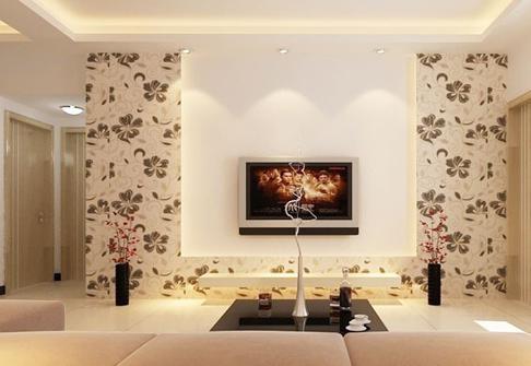 客厅电视背景墙壁纸,怎一个美字了得?