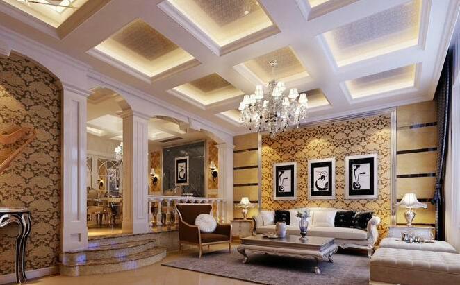 简欧餐厅客厅吊顶造型 气派风格引人注目