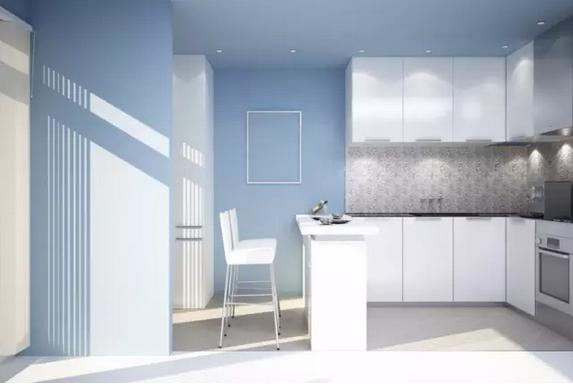 白色恋歌,打造明亮简约厨房!