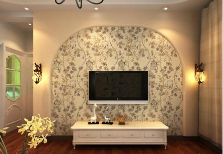 墙纸电视背景墙效果图