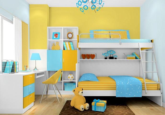 双胞胎儿童房设计重点 值得参考!