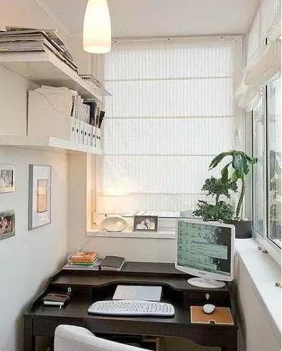 与阳光一起读书 阳台改书房装修效果图欣赏