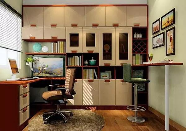 简欧风格书房 塑造宁静空间效果图