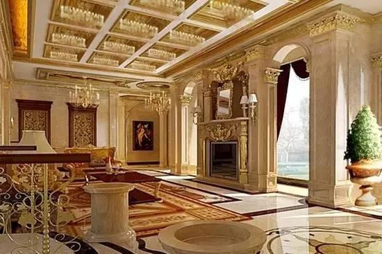 欧式古典风格别墅装修效果图图片