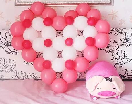最新气球、花饰布置婚房简介,看了想结婚吗?