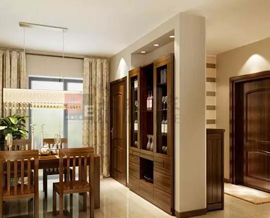 你家有用酒柜做玄关隔断吗?给你看效果图