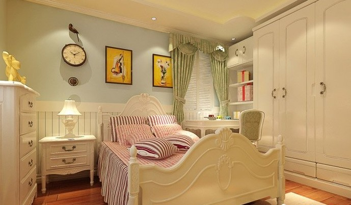 时尚的儿童房装修效果图-美丽的卧室
