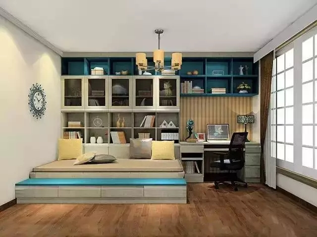 卧室书房一体化效果图