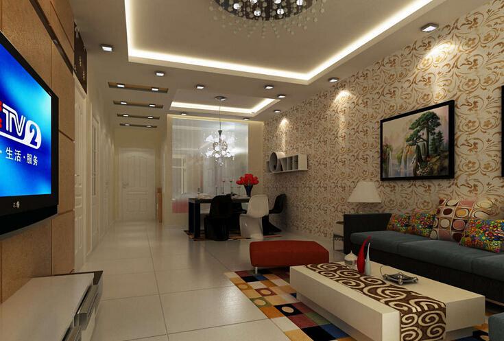 长方形客厅吊顶 视觉增大室内空间