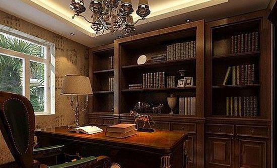 欧式书房装修效果图 14款设计让你爱上书房