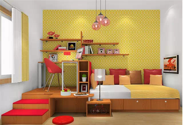 儿童房怎么设计?榻榻米带书柜才是首选!