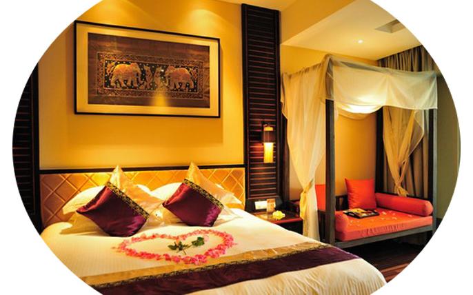 浪漫惊喜的房间布置_最浪漫的婚房卧室布置效果图片-维意定制家具商城 - qg678