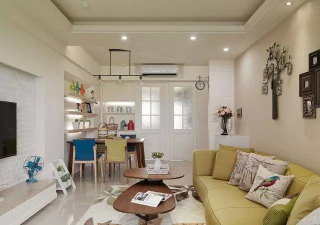 客厅与书房隔断装修效果图高清图片