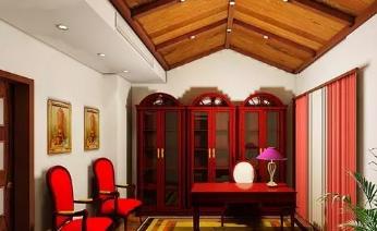 中式书房吊顶效果图欣赏