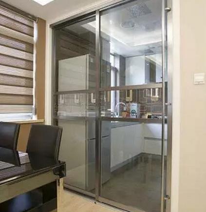 6款时尚厨房玻璃移门装修效果图高清图片