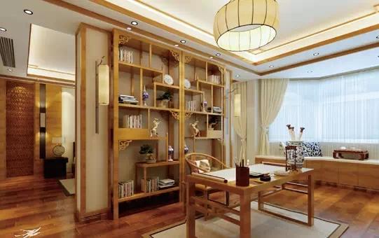 主卧带书房 中式设计地板推荐