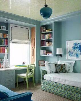 卧室兼简单书房装修,要如何巧妙设计利用呢?
