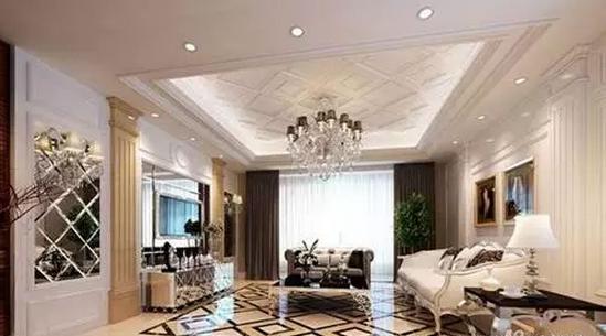 欧式最新客厅造型吊顶效果图设计大全