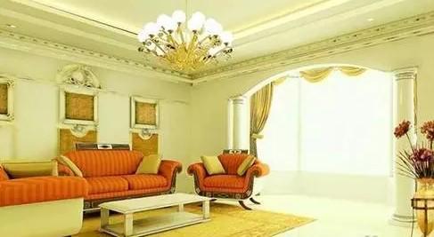 欧式最新客厅吊顶设计图纸大全