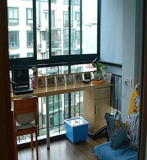 小户型必杀技!把阳台改成书房