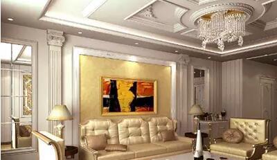 推荐几种欧式客厅吊顶造型设计图?