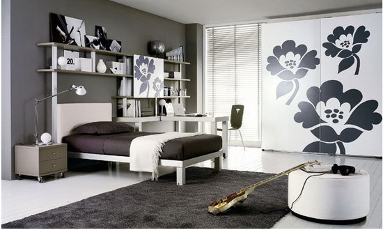 儿童房条纹壁纸贴图打开房间装修新世界