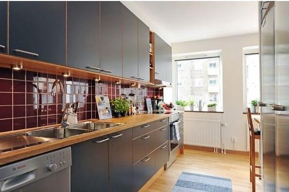小户型整体厨房,要美观实用都重要!图片