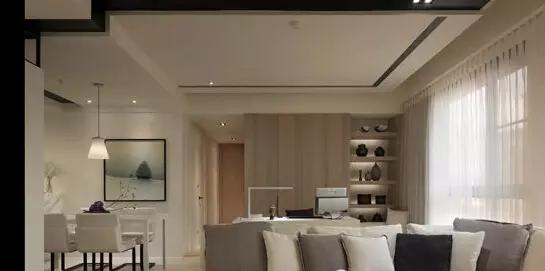 为您推荐简约的长方形客厅吊顶造型