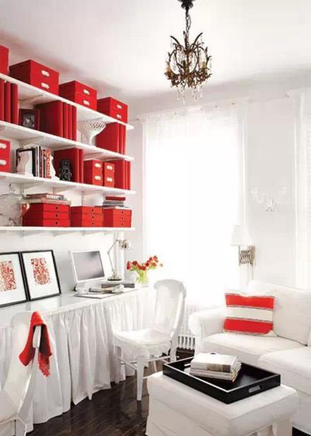 美式客厅兼书房 营造惬意读书角