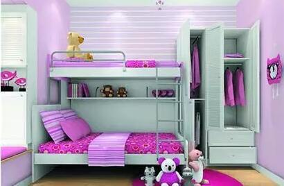儿童房上下床装修图推荐大全