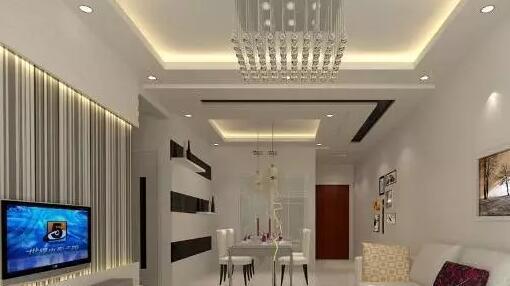 客厅餐厅吊顶设计图供大家欣赏