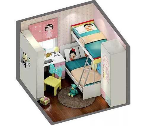 这样的儿童房设计上下床 你想睡吗?