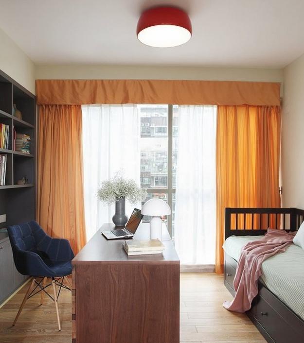 现代书房窗帘效果图原来是这样子的!