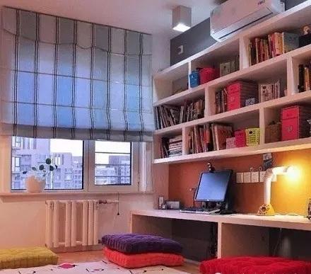 书房榻榻米书柜一体设计