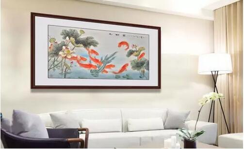 客厅玄关挂画 九鱼图挂在什么位置风水好