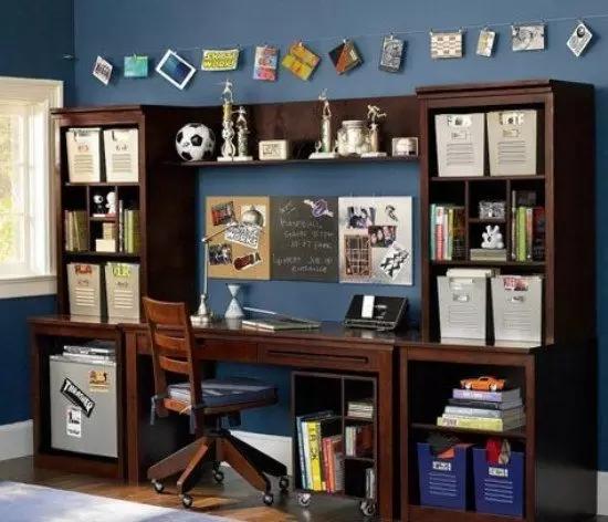 美式儿童书房设计