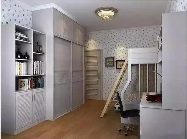 儿童房上下床设计图,二胎来了家长不发愁