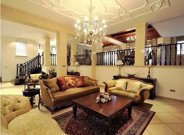 客厅石膏线吊顶造型欣赏