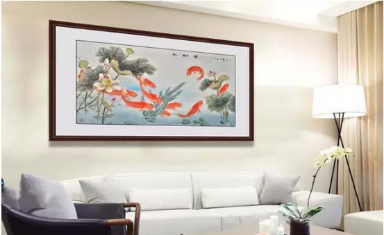 玄关壁纸九鱼图挂在什么位置风水好