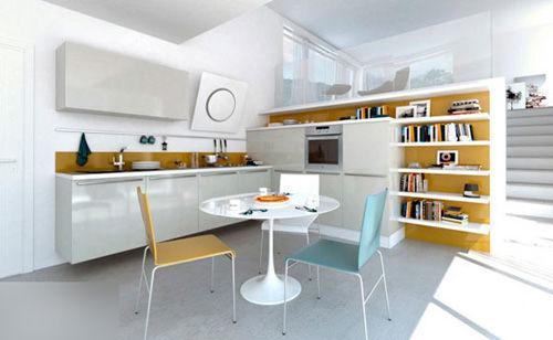小高层也有大厨房 厨房整体橱柜设计图