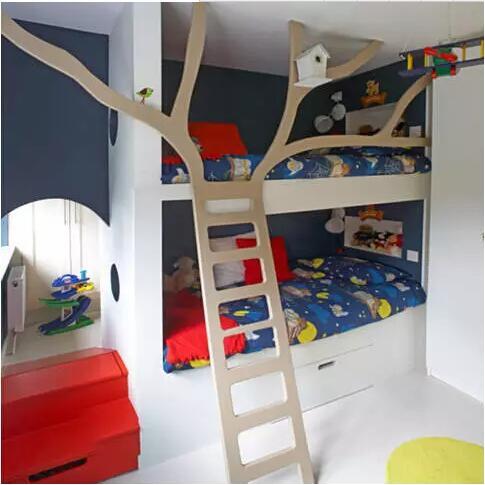 家有俩宝 多款个性儿童房上下铺设计推荐