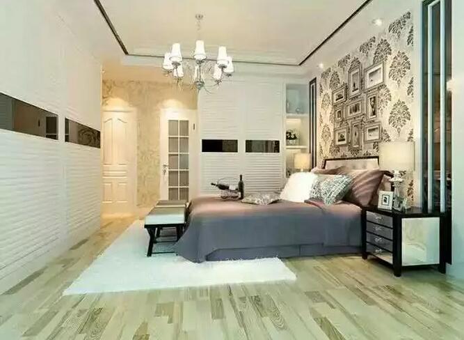 卧室墙纸搭配好了   原来也可以这么美!