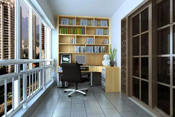 看看人家是怎样把小阳台改造成书房的!