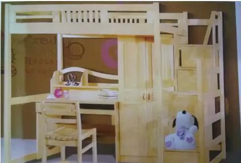 儿童房上下铺床 全面放开二孩必备儿童家具