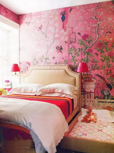 卧室墙纸背景墙大全  适合没有头绪的朋友!