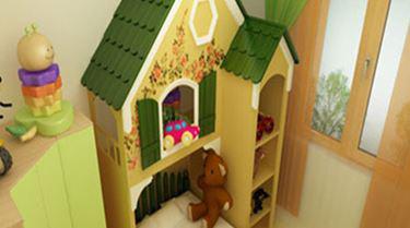 儿童房书柜衣柜组合  填充小孩的趣味童真