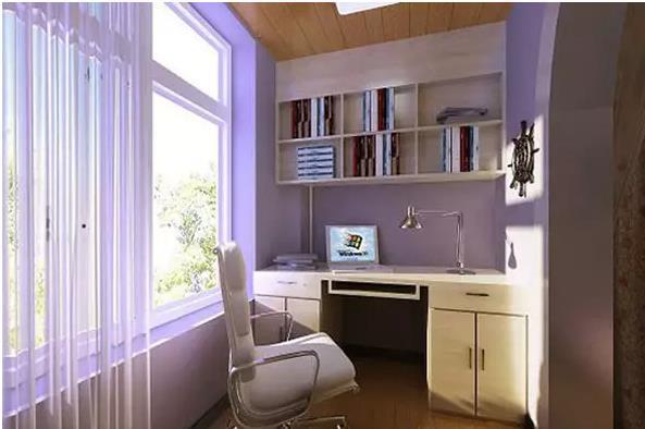 小阳台改造成书房 让你灵感源源不断
