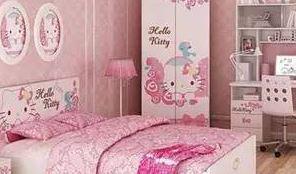 儿童房家具效果图   女孩房间要这样设计